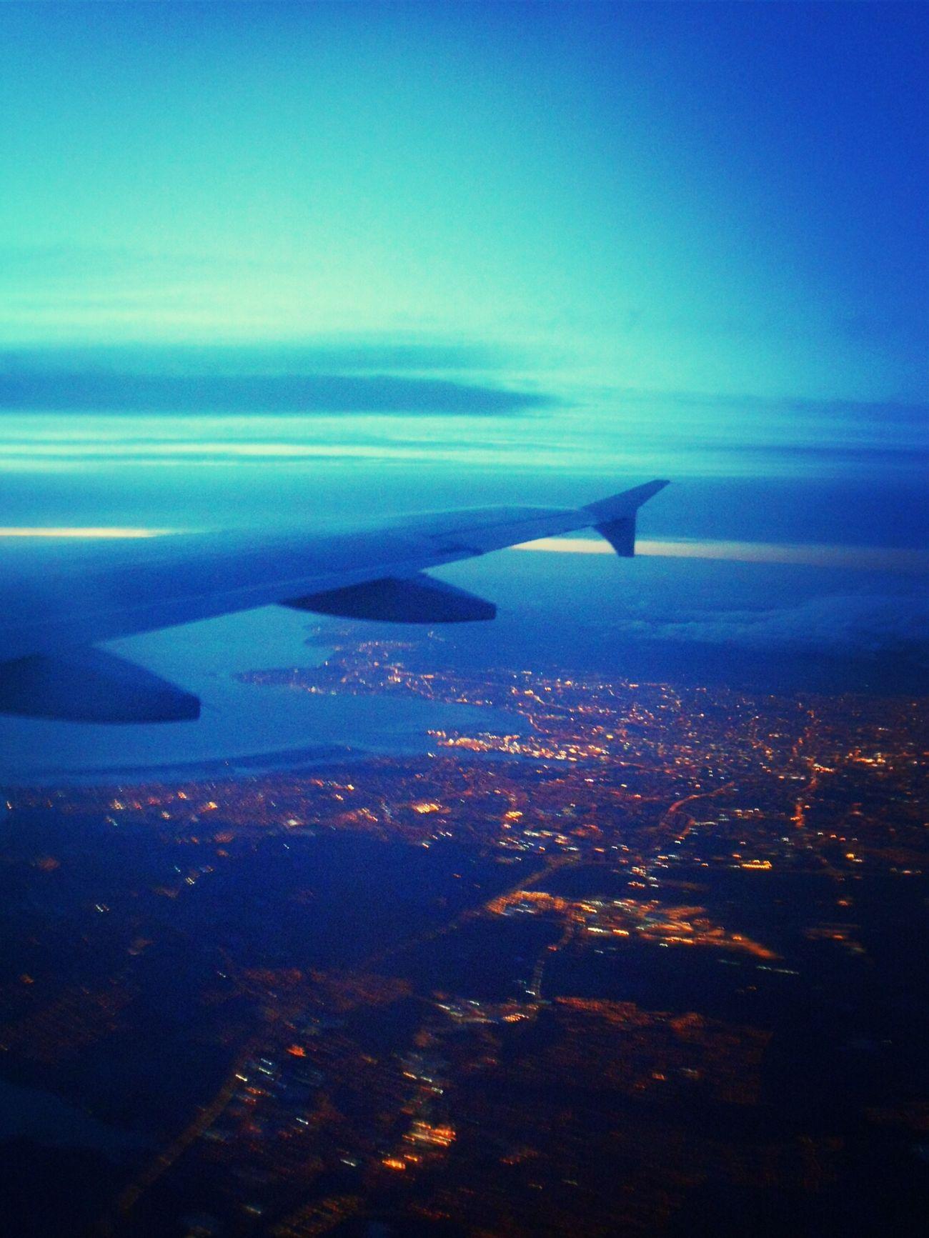 From An Airplane Window Goodbye Ireland Night