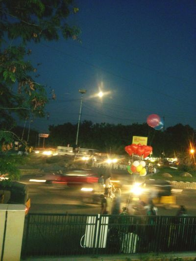 Internet Addiction Illuminated Night Road Street Light