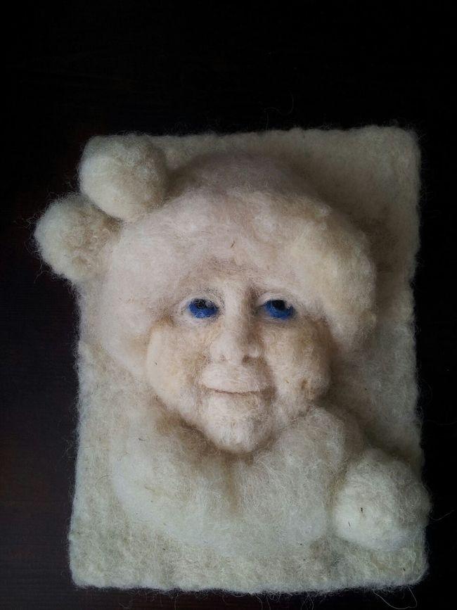 Number 4 of winter children. Artdolls Handmade By Me Portrait Hello World