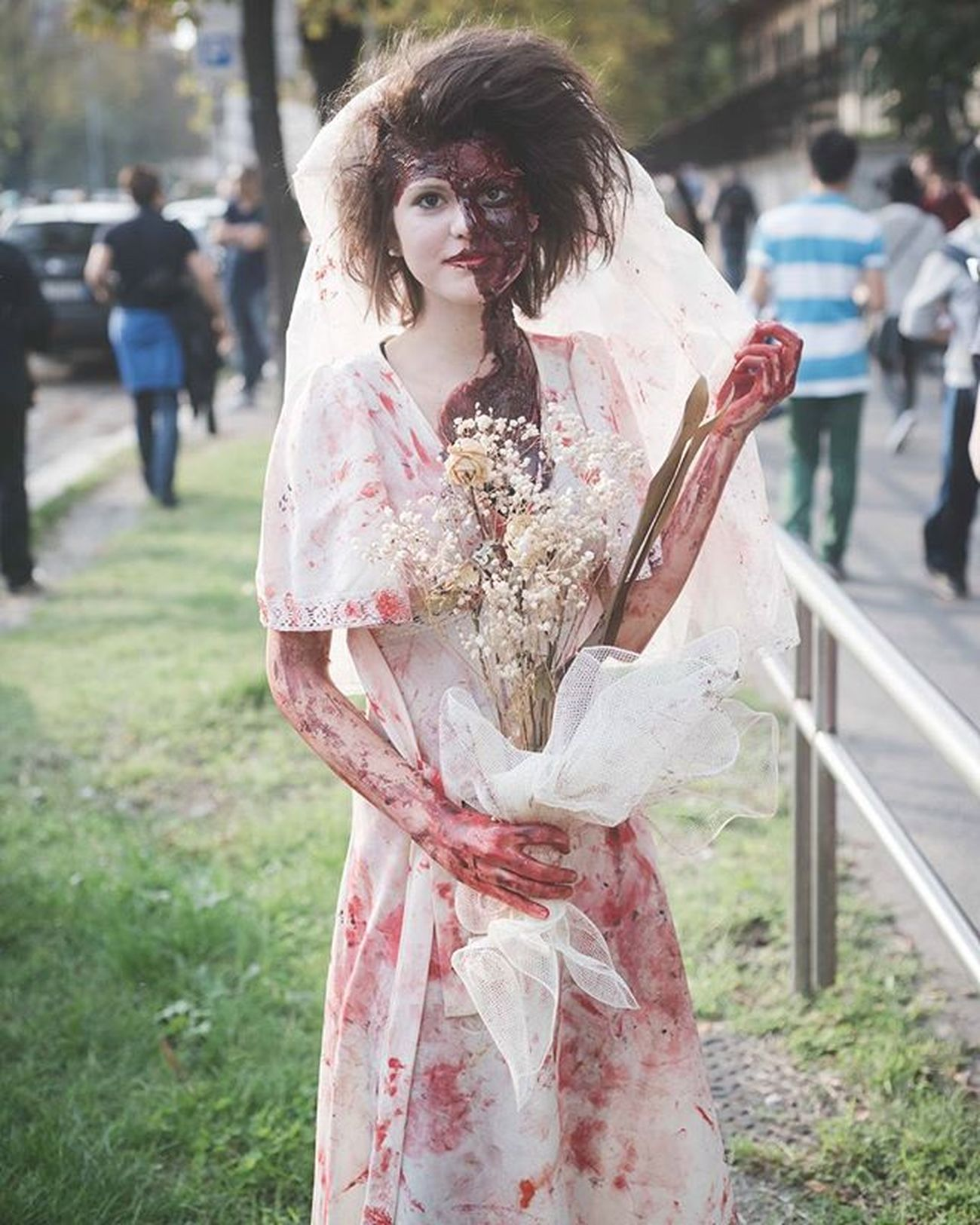 Zombie Walk 2015 in Milan - take a look at the whole gallery at the link below and have a great Saturday night! http://www.eugeniomarongiu.it/ !/index/G0000AH8OwrQrvZA - Zombie Zombies  Zombiewalk2015 Zombieapocalypse Zombiewalkmilano Horror Halloween Carnival Mask Street Portraitpage Portrait Streetphotography Firstpost  Savetheart Livefolk Vscoaward Liveauthentic Visualgang Zombiewalk  Visualauthority Livefolk Instagoodmyphoto Vscoportrait FolkPortraits peoplescreatives witch vsco vscocam