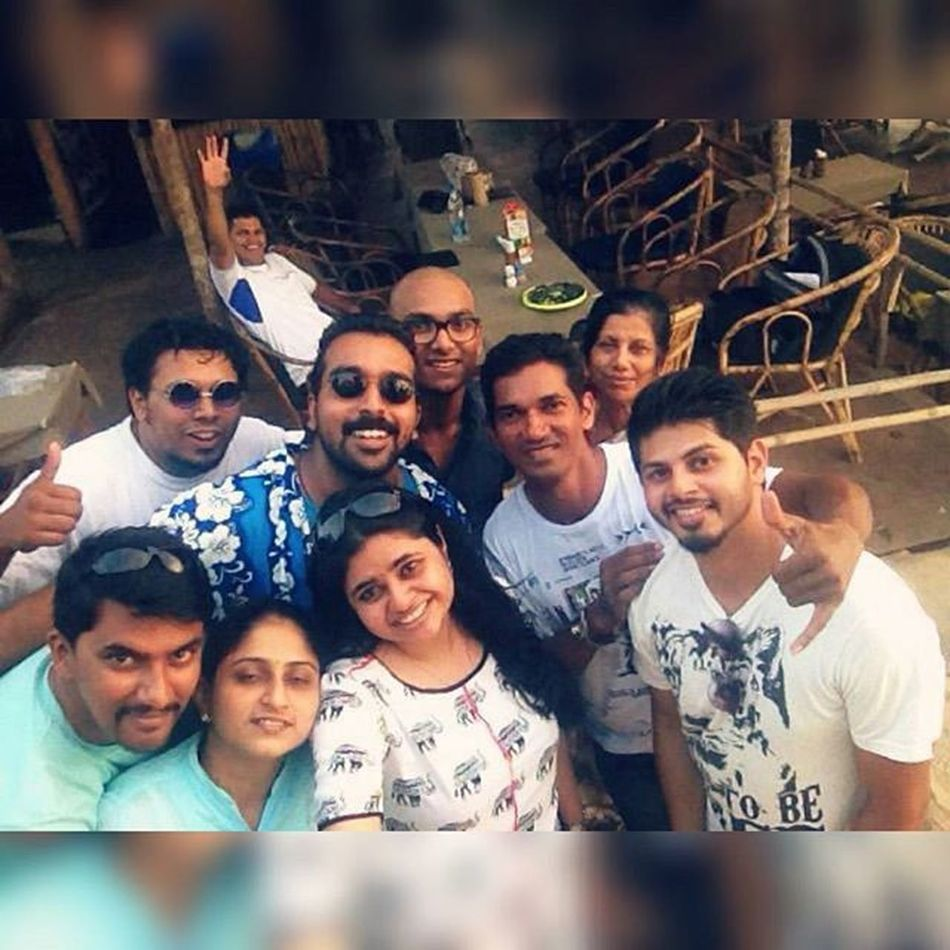 Bday surprise ! Bestparty Favoriteplace Coolgang Throwbackapril Retro Cool Partytime Awesomeness Family Friends Mandatoryshot Groupie Lovethemsomuch Blue &white Shack Ahd Goa Specialevent