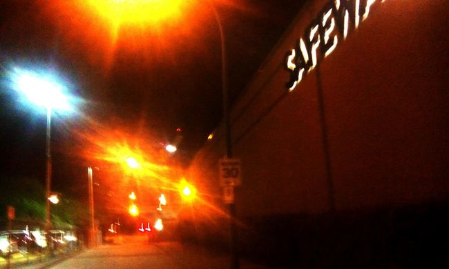 Safeway Surrey City At Night.