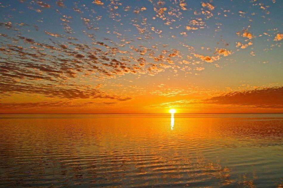 Sunset Beach Clouds Australia
