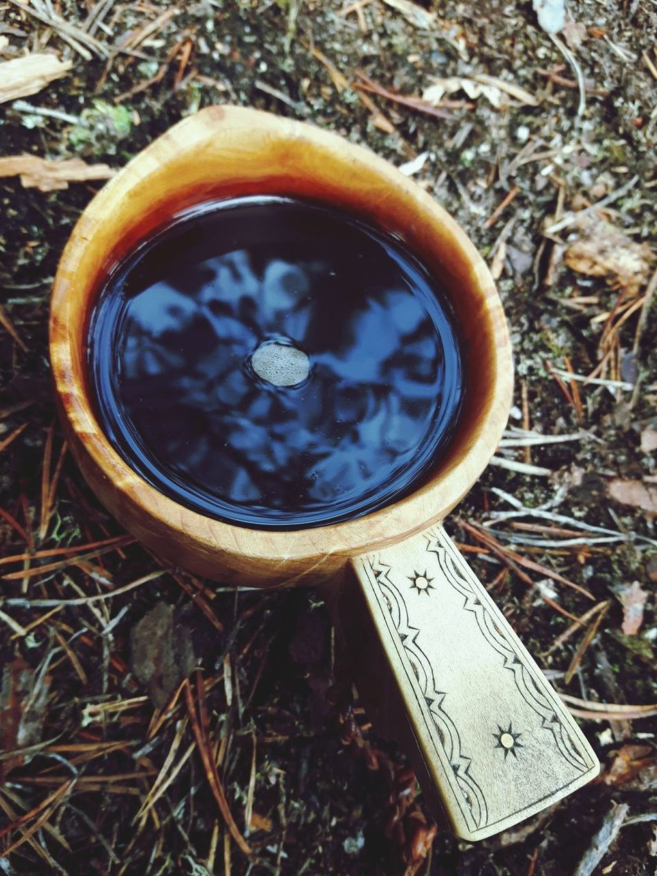Coffee time in the forest. Everything tastes better when you drink it from guksa, traditional hand made Sámi cup that is made of wood and reindeer antler and decorated with Sámi design. Saturday Home Sweet Home Enjoying Life Indigenous Design Visitsápmi