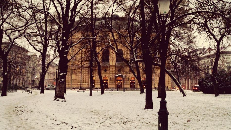 National Theatre of Szeged in the Snow . Theater Szegedcity Hungary Szeged Szegedforever♥ Szegedi Eyeem Szeged Life In Szeged Snowy Snow ❄ Cold Coldweather Cold Weather Cold Temperature Cold Winter ❄⛄ Wintertime Winter It's Cold Outside