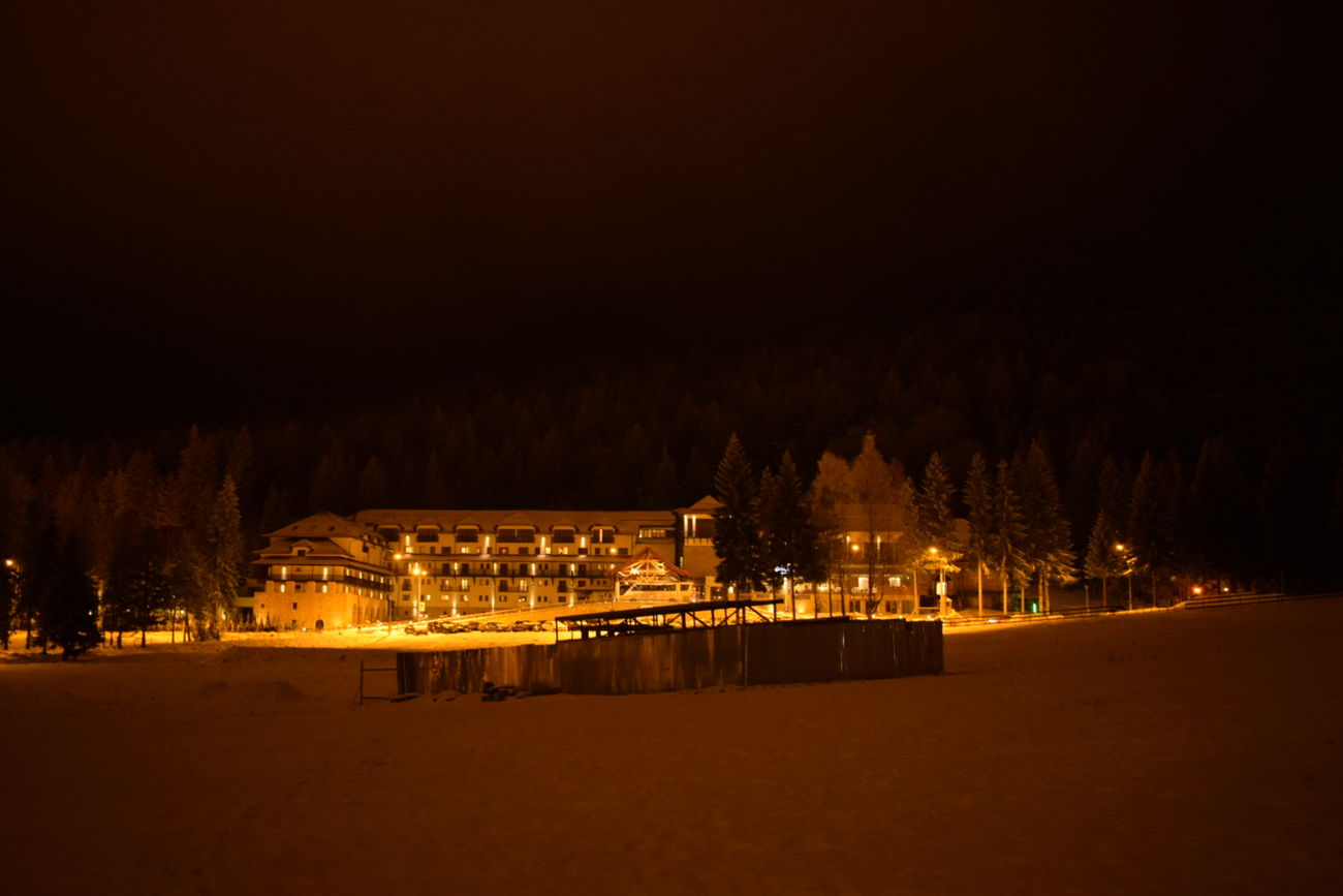 Night Winter Illuminated Snow No People Outdoors Architecture Sky Tranquil Scene Nature Scenics Moments NIKON D5300
