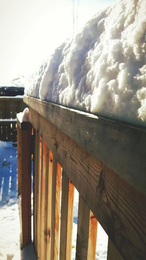 Wood - Material Railing Sky Day No People Nature Outdoors Close-up Full Frame Backgrounds Winter Snow Deck