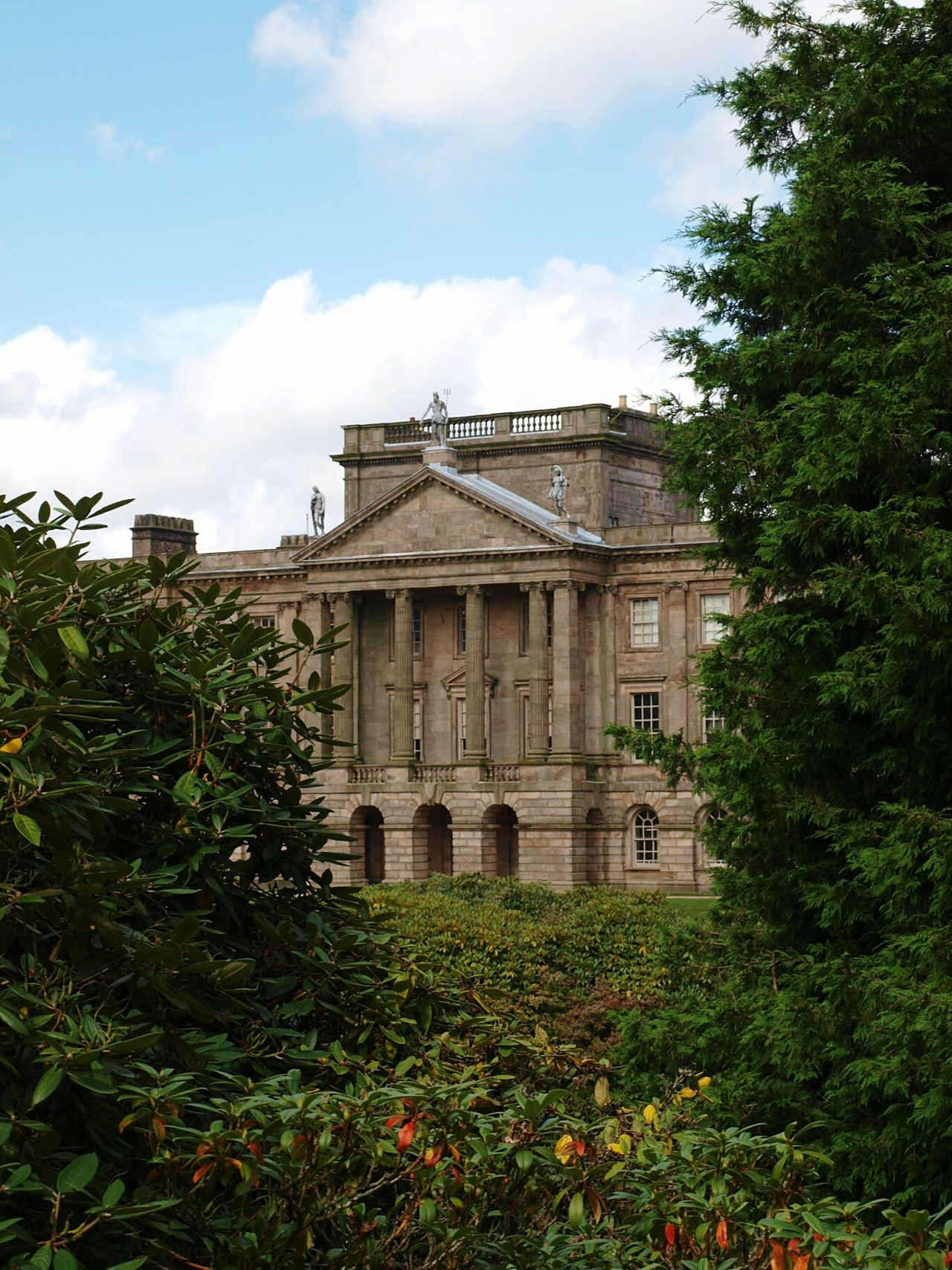 Architecture Built Structure Tree Gardens Historical Building Building Exterior Impressive Locations Lyme Park Cheshire