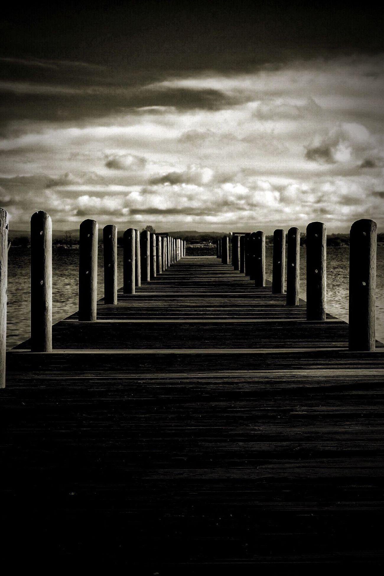 In A Row Sky No People Cloud - Sky Nature Outdoors Day Tranquility Tranquil Scene The Way Forward Horizon Over Water Pier Water Fujifilm Fujifilm_xseries Myfujifilm Ireland Nireland