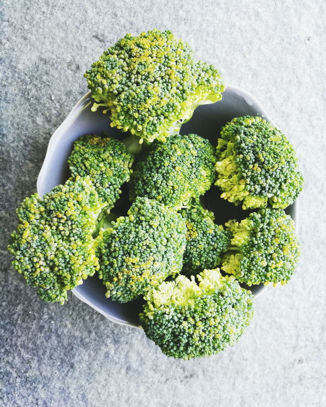 Green Color Vegetable Plant Broccoli High Angle View Freshness Food And Drink Studio Shot No People Gray Background Healthy Eating Growth Food Nature Day Indoors  Close-up Leaf Flower Head Broccolisprouts Broccolistems Broccolini Broccolli Broccolo Broccoli Floret