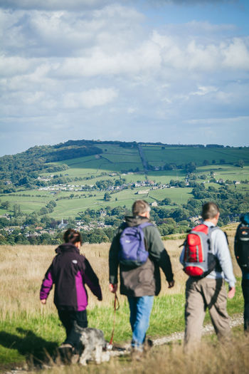 Activity Country Countryside Day Out Dog Dog Walking England Exercise Fitness Fresh Air Healthy Hiking Hills Landscape Moors Nature Outdoors Path People Rambling Sunny Trail Walkers Walking Yorkshire