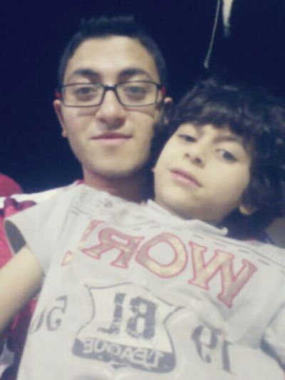 With my lovely brother❤