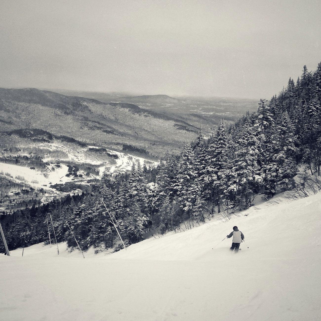 Blackandwhite Winter Skiing