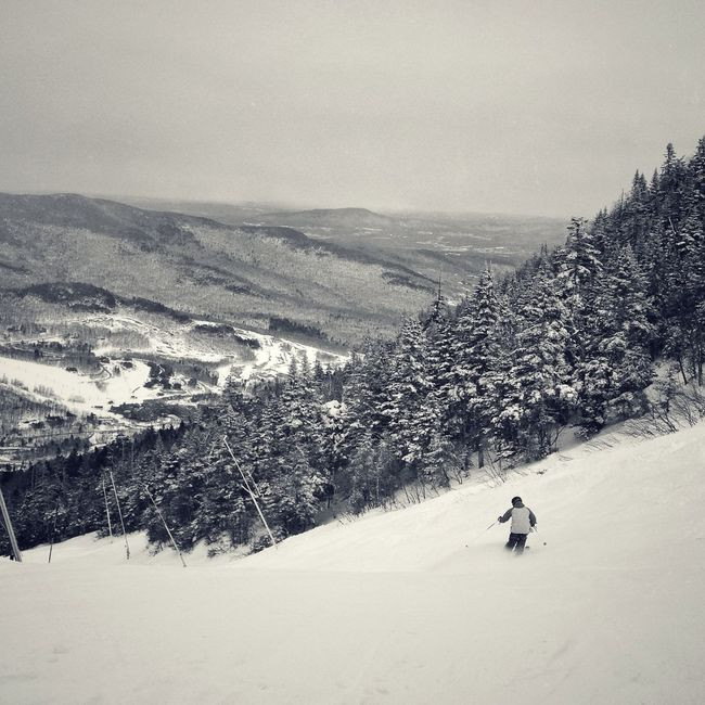 Blackandwhite Winter Skiing