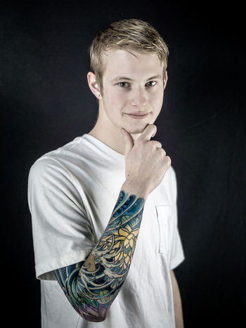 Casual Clothing Looking At Camera Person Portrait Real People Sleeve  Sleevetattoo Smiling Tattoo Young Adult Young Men