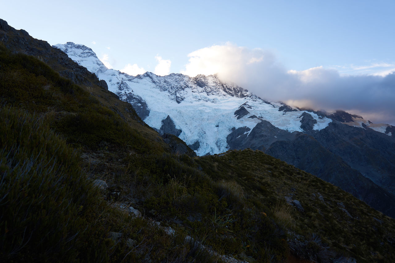 Mt Cook / Canterbury / South Island / New Zealand Beauty In Nature Cold Temperature Day Landscape Mountain Mountain Peak Mountain Range Nature No People Outdoors Scenics Sky Snow Snowcapped Mountain Winter