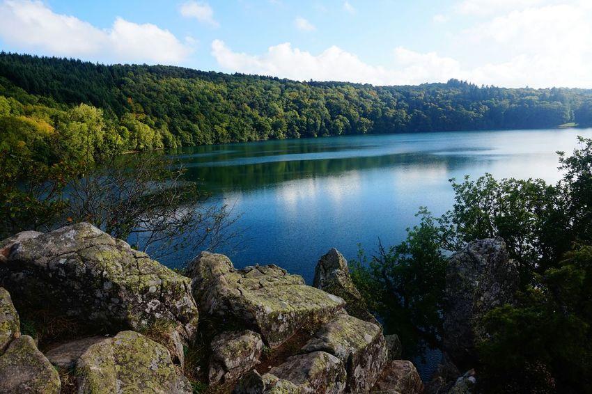 Gour De Tazenat Quiet Moments Lake Waterscape Volcano Crater Lake Auvergne Lac D'auvergne CestBeauLAuvergne France Blue Wave Iloveauvergne
