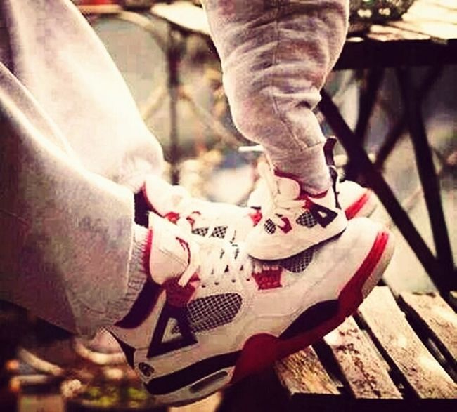 Cant wait to have a Lil one so i can spoil him or her with some Jordans.. Me And My Daddy