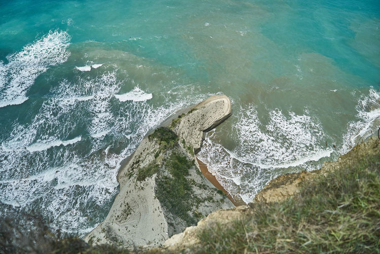 Beach Capedrastis Corfu Day Green Color High Angle View Island Nature No People Outdoors Surf Water