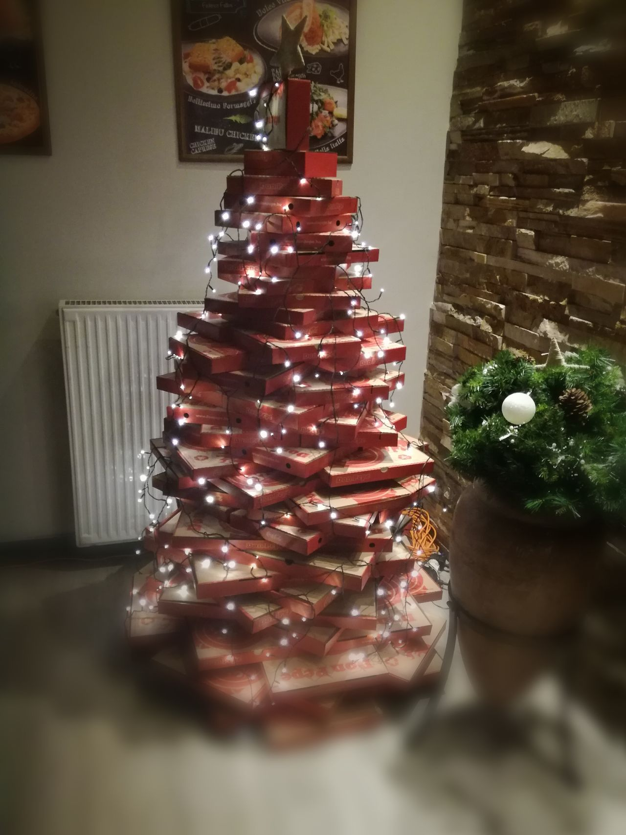 Christmas Tree Christmas Christmas Decoration Tree Celebration Indoors  Night Santa Budapest Paris ❤ Lifeisgood Goodnight Creative Think Positive On Fire MerryChristmas