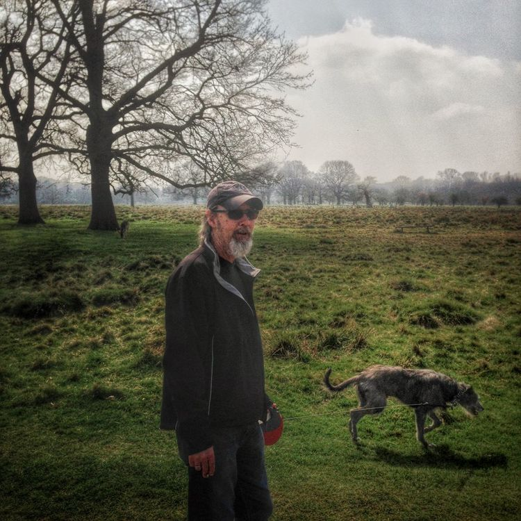 I Love My Dog LEO... The One Eyed Lurcher... Lurcher Sighthound That's Me Hampton Hill Bushy Park