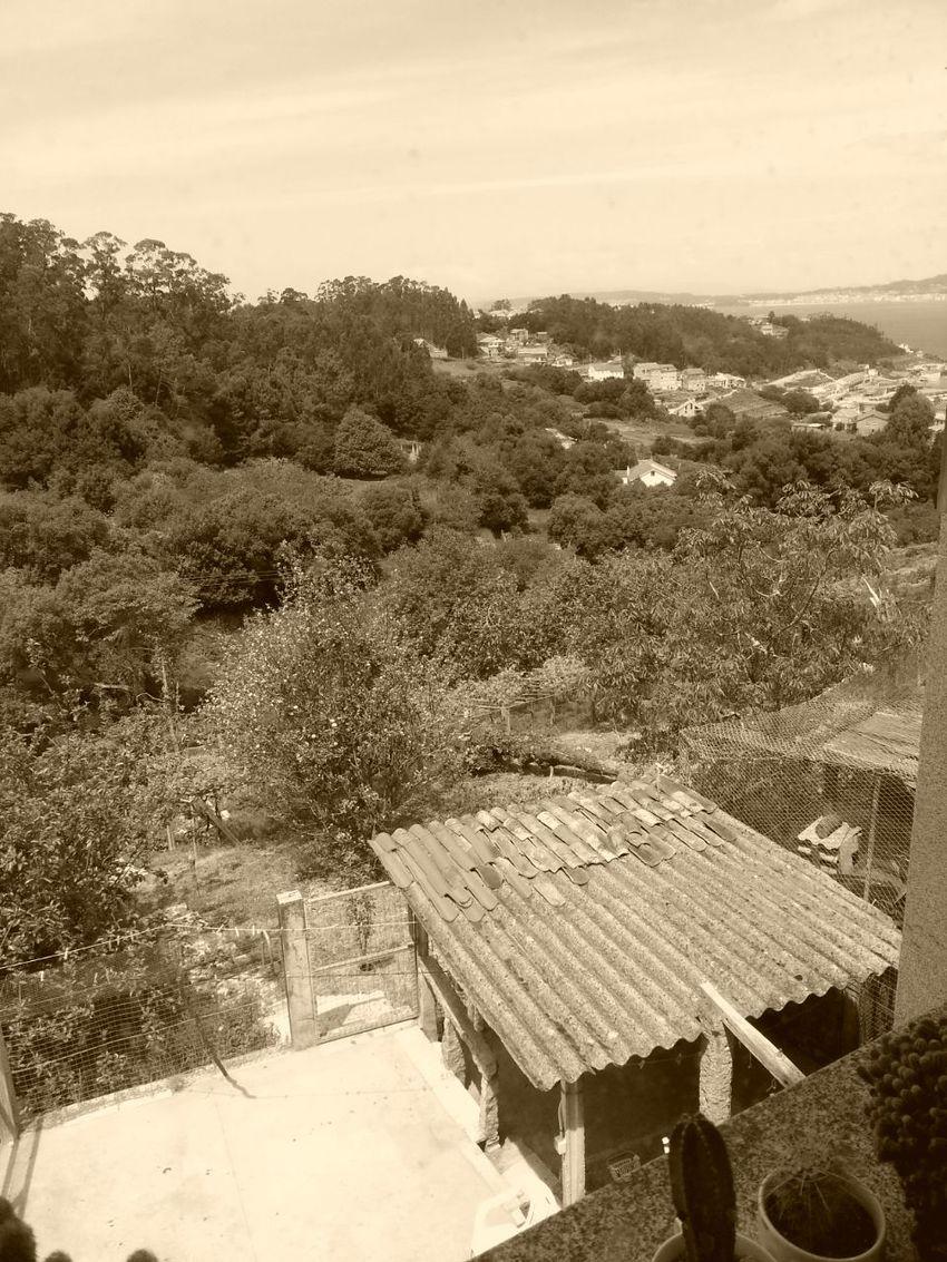 Vistas do mar Bueu, Pontevedra, Galicia, España. Beluso