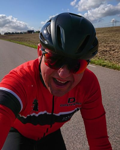 Sportsman Lifestyles Sports Race Healthy Lifestyle Pedal Colnago Ferrari Ridedomestique Cloud - Sky Motion Activity Bicycle Sports Helmet Outdoors Nature Colnago Cycling Helmet Wireless Technology Selfie Sport No People Adventure Red Transportation Landscape Day