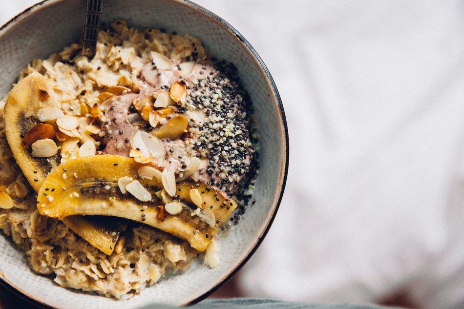 Banana Close-up Food Food And Drink Healthy Eating Oatmeal Porridge Ready-to-eat