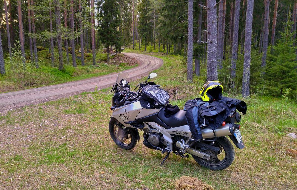 My Pleasure! Suzuki Vstrom Suzuki VStrom DL1000 Deep In The Woods Adventure Gästrikland Rough Road Riding