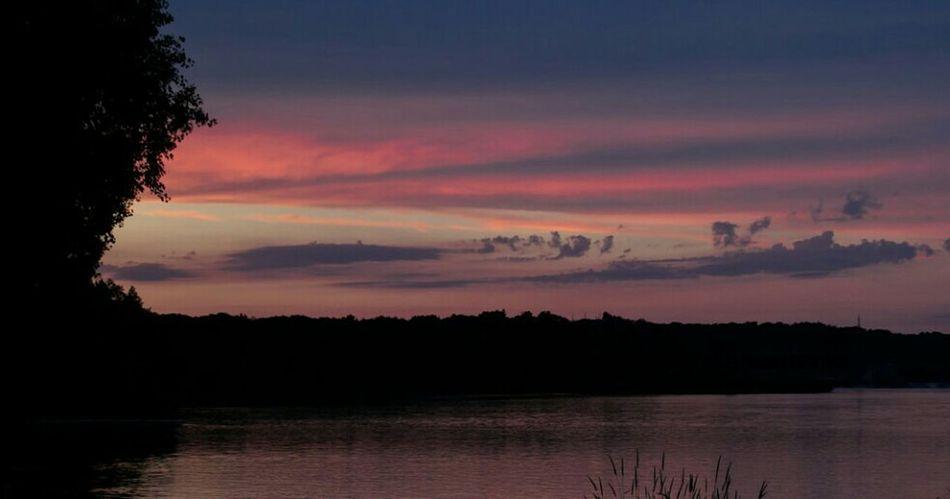 Wisconsin River Sauk City WI Wisconsin Sunset Reflection Beautiful