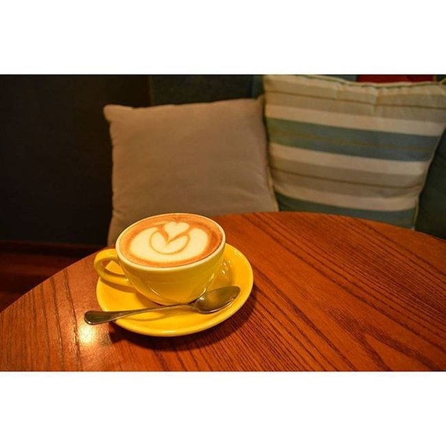 Hi there,it's Saturday. Visit a cafe,coffee in yellow cup. 051215 Saturday Photography Nikon DSLR D5200 Lenovo Instagram Instapost Instalike Instadaily VSCO Vscofile Vscocam Myalbum