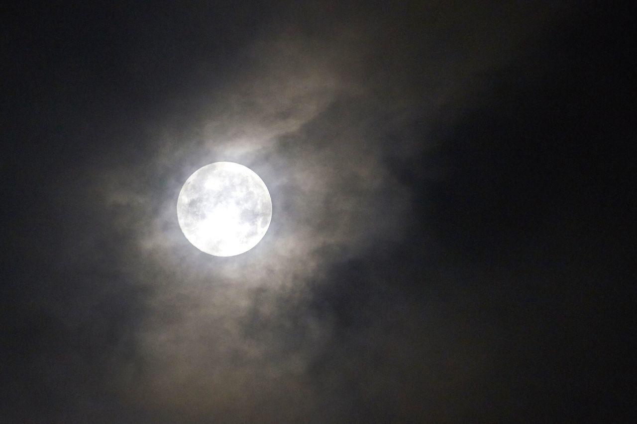 Supermoon Light And Shadow Nightphotography