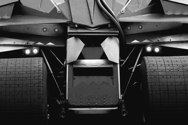 My new toy Toy Car Supercar Cars Transportation Engineering Future Tech Motorsport Monochrome Photography Black And White EyeEm Best Shots No People Architecture Rear View Tail Light Batman Batmobile Fantasy Science Fiction Wheel Tire Technology Metal