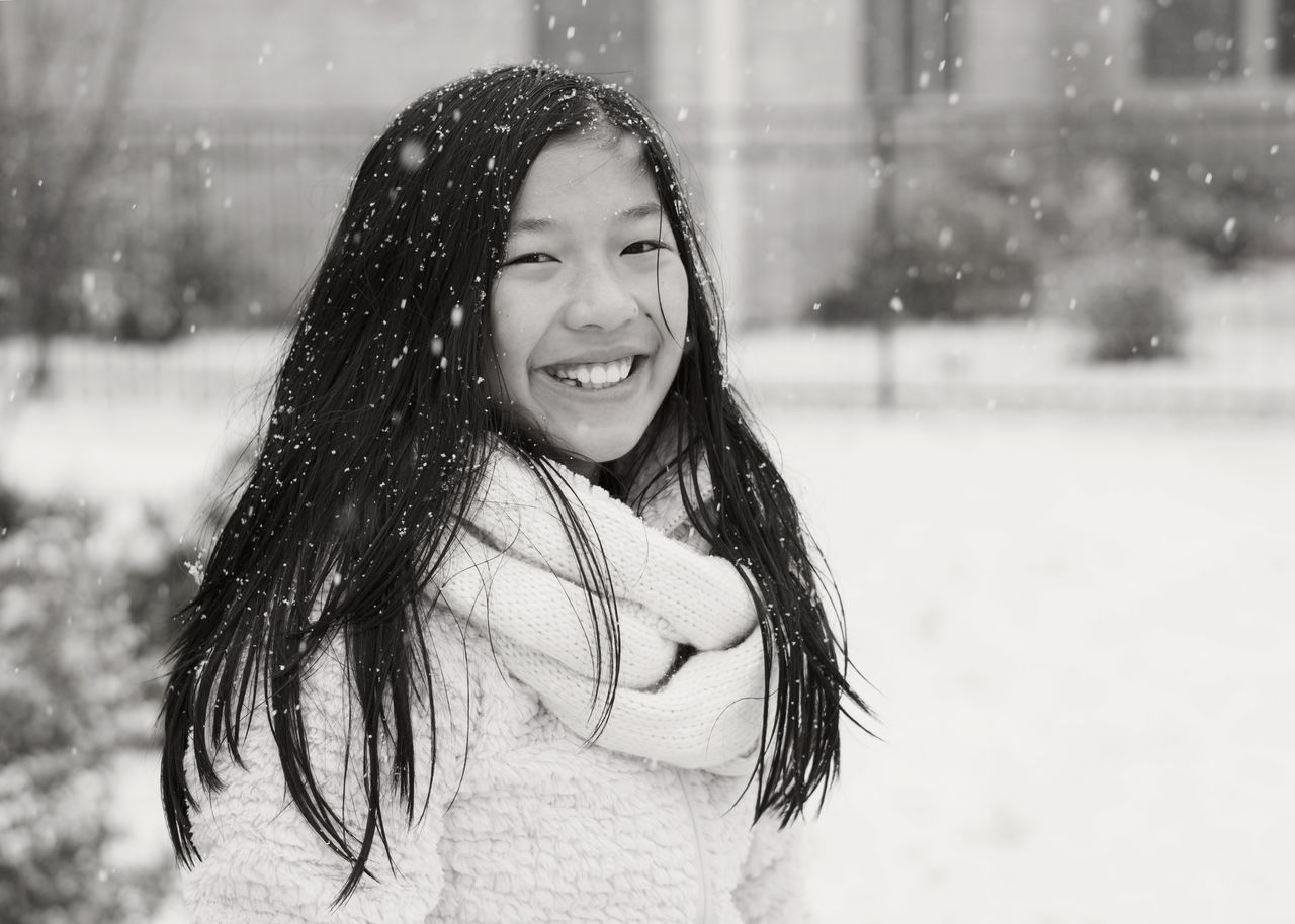 Snow Day!!! Big Smile ☺ Enjoying The Snow Girl Outside Photography Portraits Snow Snow Portrait Snowday