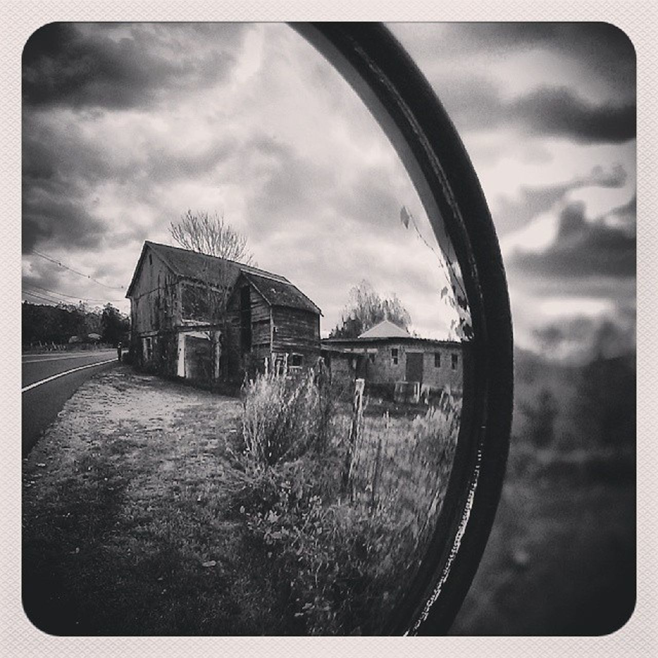 Look what I see behind me! Blackandwhite Mirror Eyesbehindme Lostinnj Forgottennj Abandonedhouse Instagram Emptyplaces DailyShot Dailydose Insta4fun Instafind
