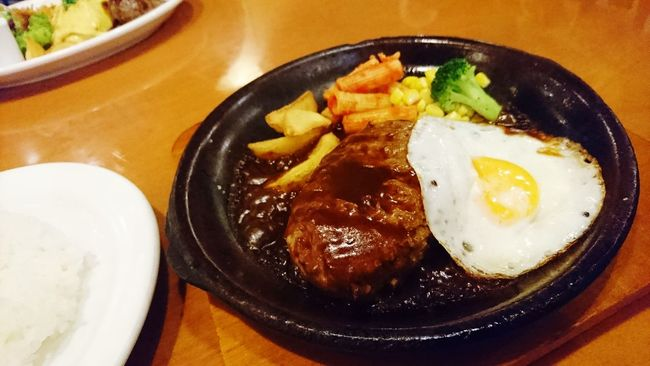 ハンバーグ Hamburger Steak 夜ごはん Dinner