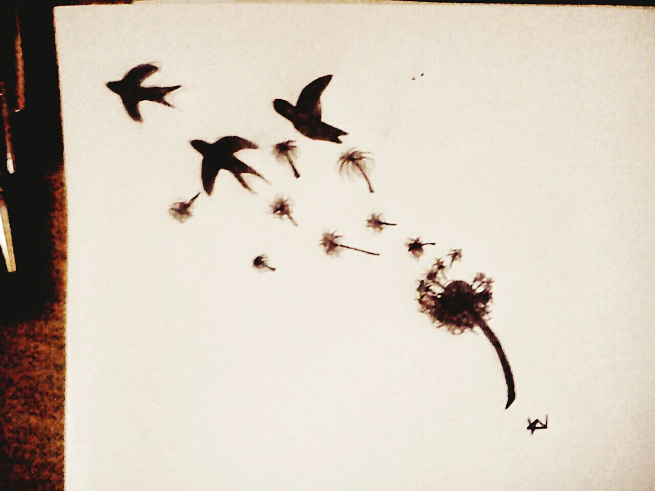 Draving Birds Dmuchawiec