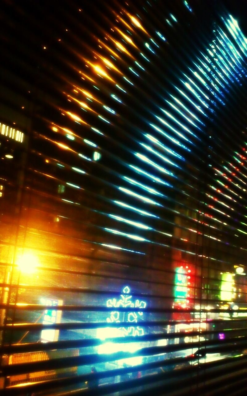 illuminated, pattern, no people, night, indoors, abstract, backgrounds, close-up, defocused, architecture