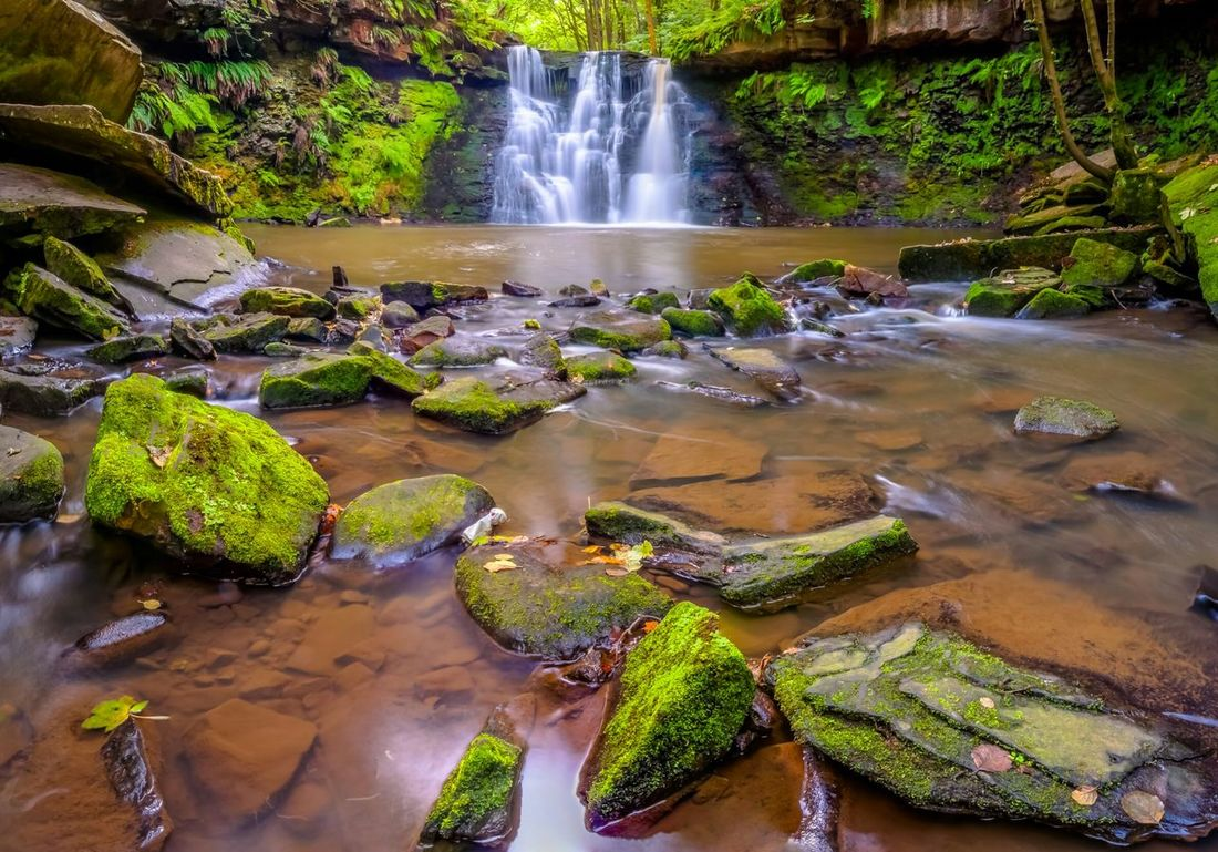 Goit Stock Waterfall in Harden. Waterfall Long Exposure Landscape Outdoors Yorkshire England Nature On A Hike EyeEm Best Shots - Landscape Nice Views