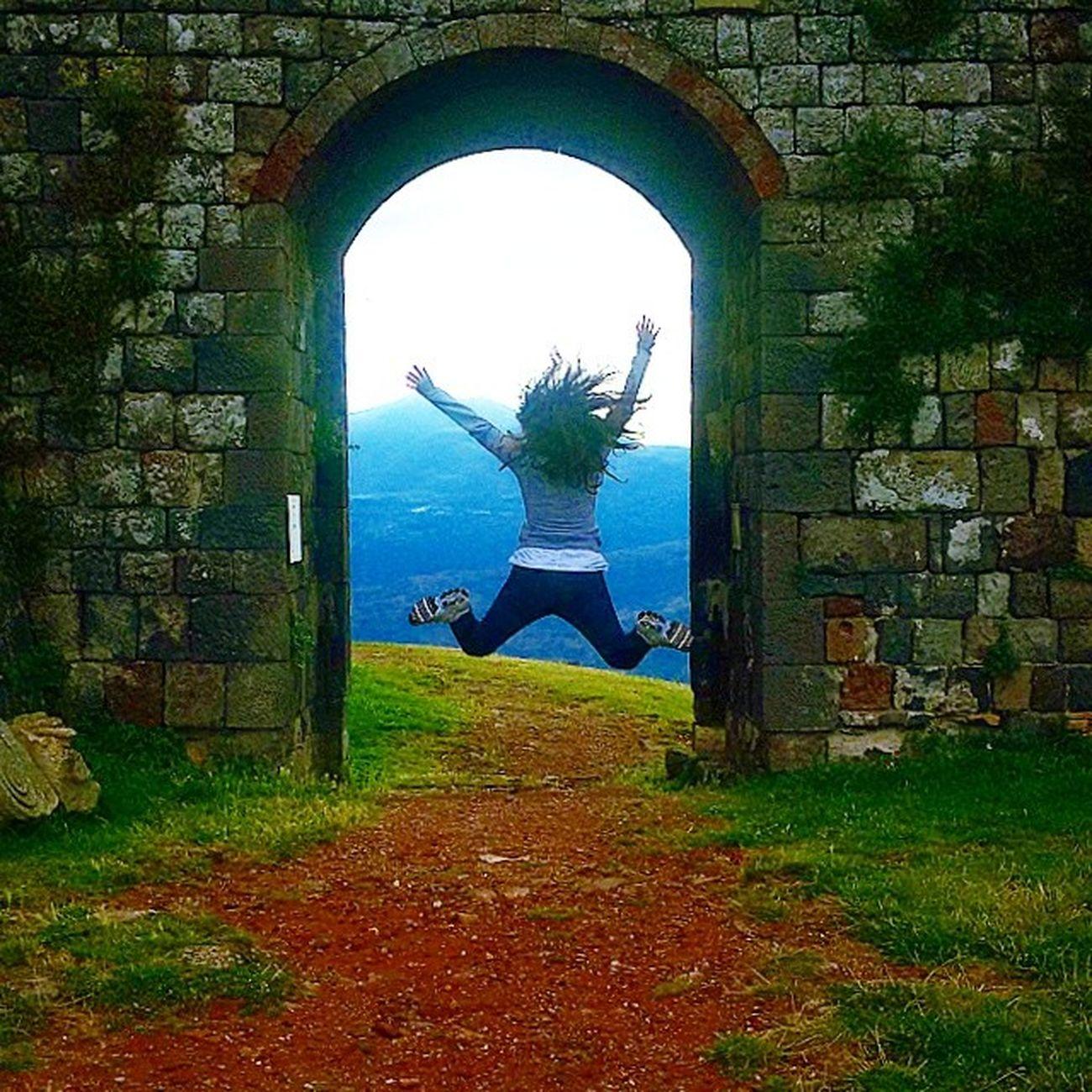 Jumpstangram al Castello di Radicofani