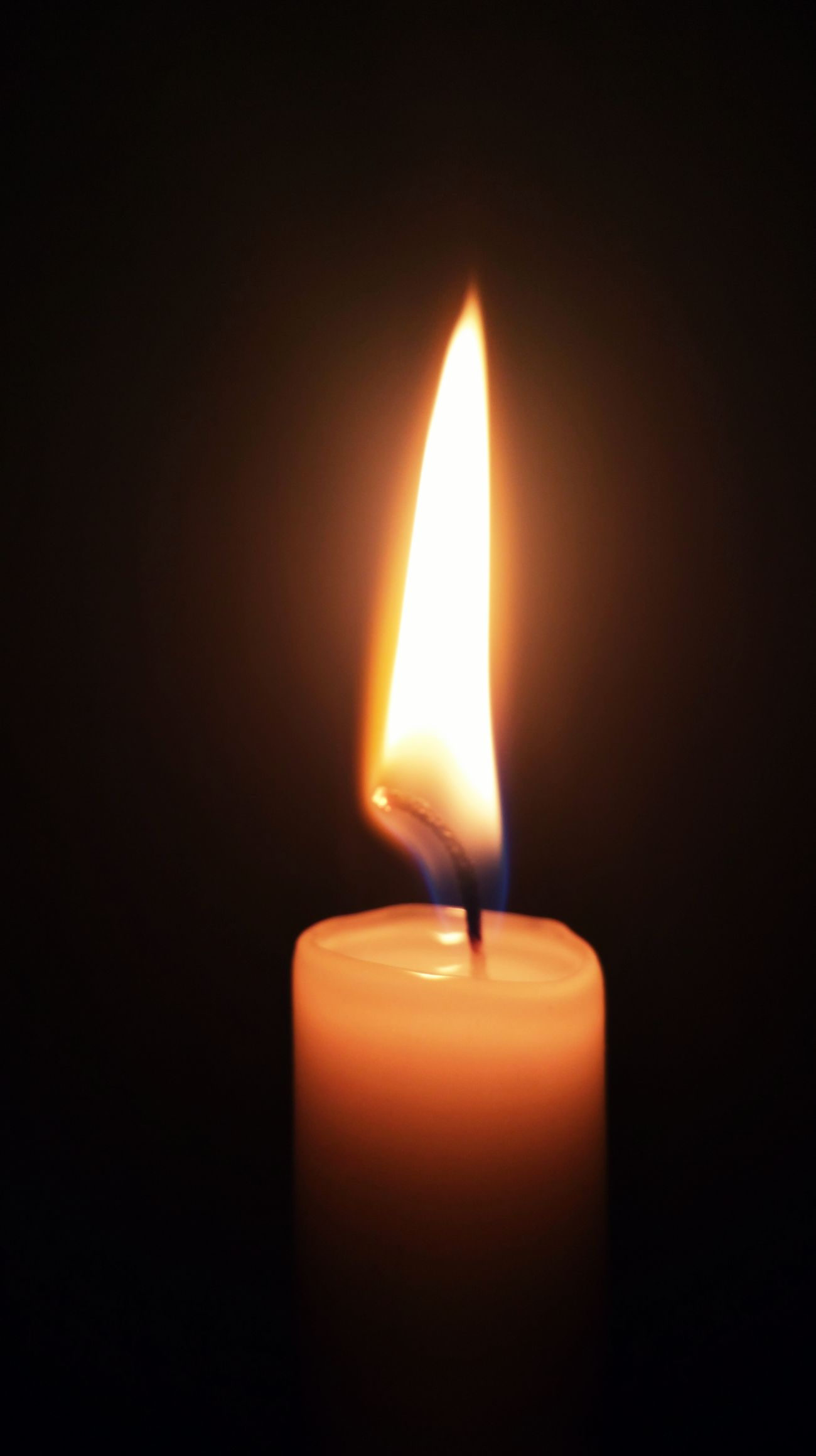 Black Background Burning Candle Close-up Dark Fire - Natural Phenomenon Flame Glowing Heat - Temperature Illuminated Indoors  Lighting Equipment No People Single Object Wax