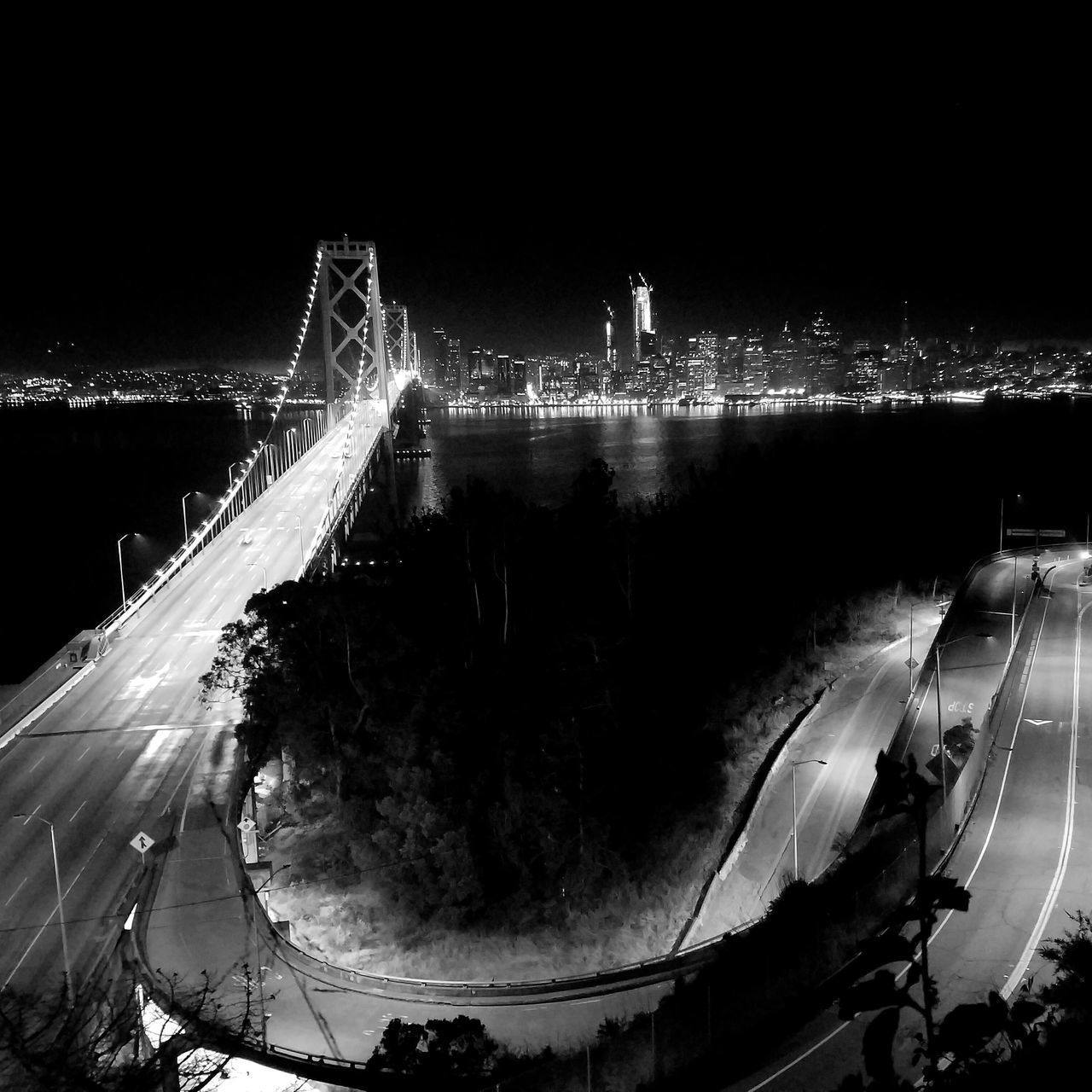 A great view of San Francisco from Treasure Island Night Illuminated Celebration Outdoors No People San Francisco Black And White City Life Clear Sky Miles Away Finding New Frontiers Live For The Story