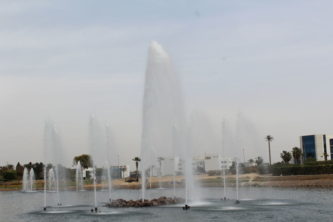 Backgrounds Fountain Fountain Show Lifestyles Nature Nature Photography Sky Sky And Clouds Splashing Water