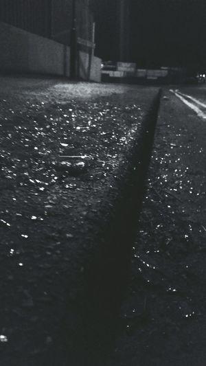 Nightphotography Glass Shards Shards Everywhere... Shardsofglass Damaged Vandalism Black And White Black & White Black And White Photography Learn & Shoot: After Dark Smashed Smashed Into Pieces Damage Vandal Criminal Yellow Lines Double Yellow Lines Streetphotography Smashed Windows Broken Window Broken Glass Smash  Broken Curb