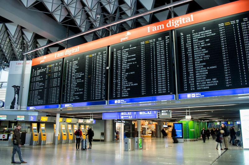 Fraport Lufthansa Airport Built Structure Indoors  Modern Terminal 1 Planespotting