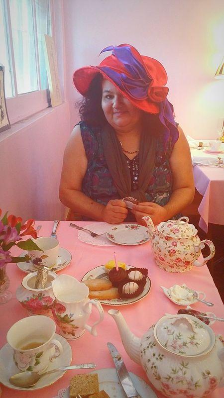 Tea House Friends Having Fun Tea Time Tea Party Taking Photos Tea Cups Plate Decoration Rose🌹 Finger Sandwiches Tea Lumpsugar Tea Pots Chocolate♡ Tea Hats A Thyme For Tea