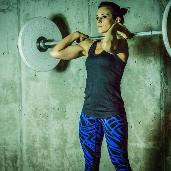 Weightlifting Fitness Three Quarter Length Young Adult One Person Portrait Standing Young Women Only Women