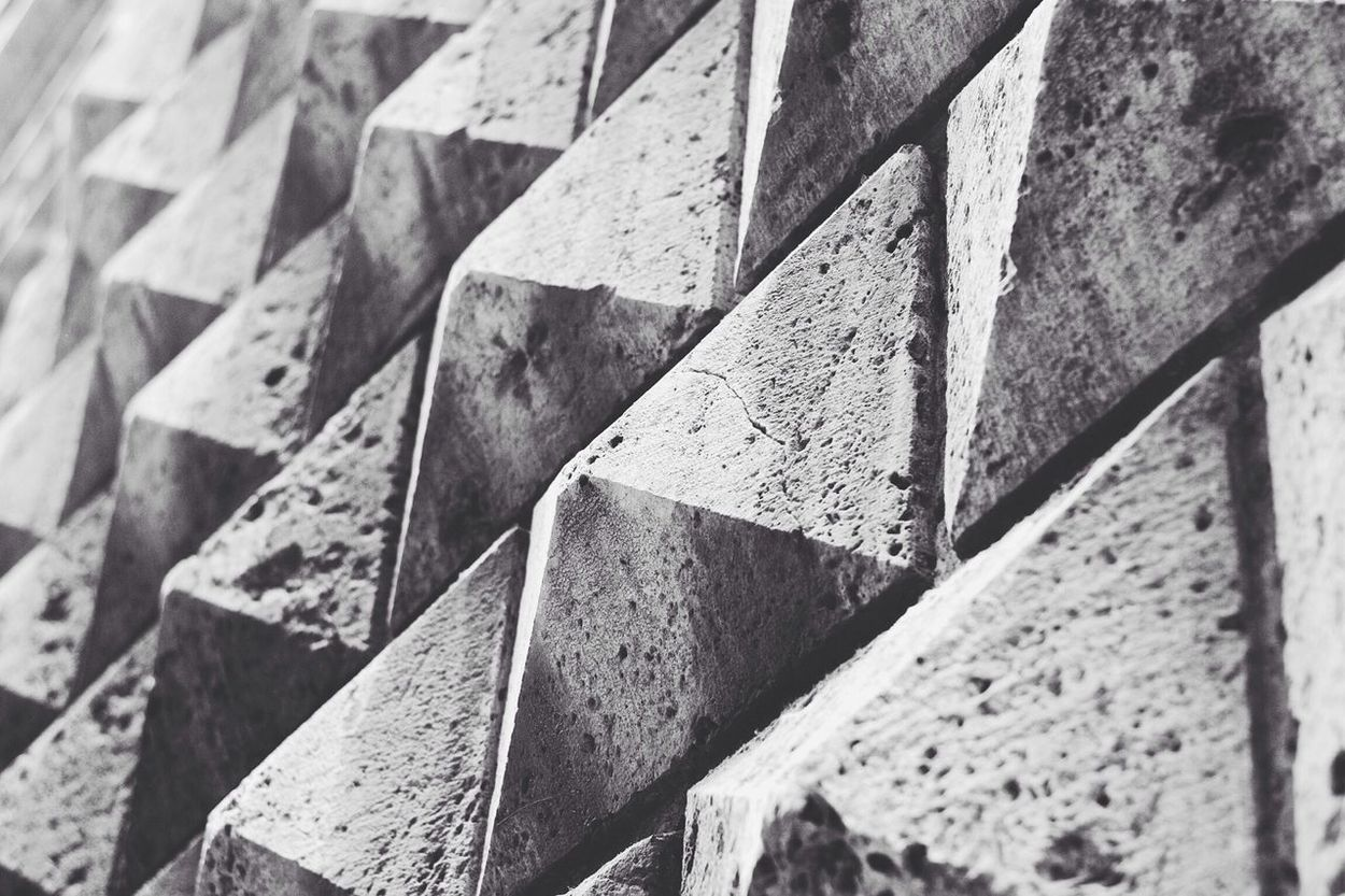 Pyramid Wall - Black & White Monochrome Vscocam Pyramid
