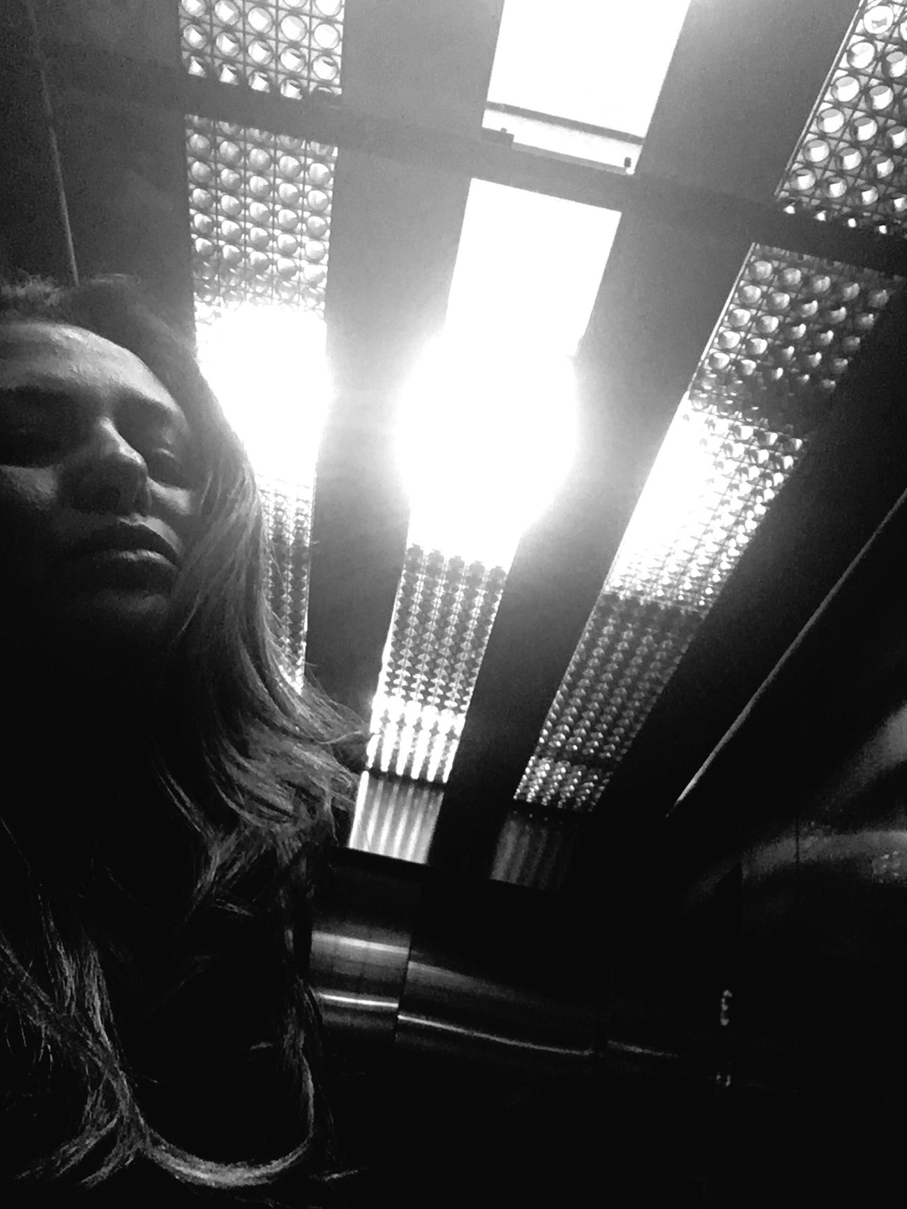 Subindo. Going up. One Person Real People Indoors  One Woman Only Day People Women Close-up Brazil Blackandwhite Elevator