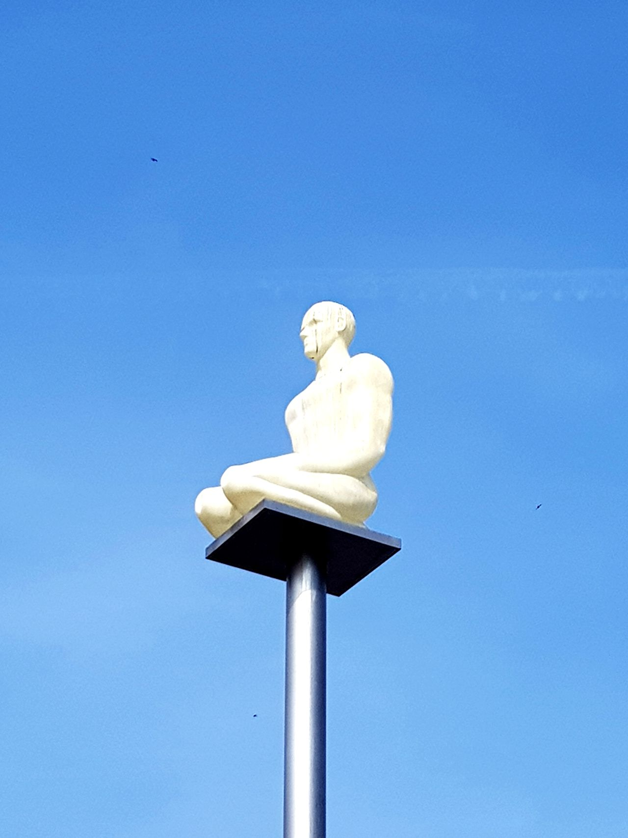 Blue Day Statue Sky No People Low Angle View Sculpture Outdoors Nature Clear Sky Summer Tranquil Scene Tranquility Human Representation Art Art Is Everywhere Artistic Expression Creativity